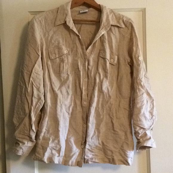 5c7f5a4057a Columbia Tops | Linen Safari Shirt | Poshmark